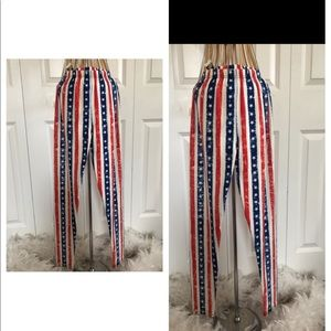 Pants - Red white and blue leggings
